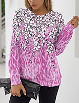 cheap -Women's Sweatshirt Pullover Floral Graphic Prints Print Daily Sports 3D Print Active Streetwear Hoodies Sweatshirts  Blue Purple Blushing Pink