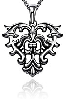 cheap -Pendant Necklace Men's Geometrical Stainless Steel Flower Punk Cool Silver 55 cm Necklace Jewelry 1pc for Street Daily Festival Geometric