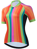 cheap -21Grams Women's Short Sleeve Cycling Jersey Summer Spandex Polyester Orange Funny Bike Top Mountain Bike MTB Road Bike Cycling Quick Dry Moisture Wicking Breathable Sports Clothing Apparel / Stretchy