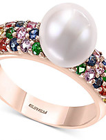 cheap -Ring Pearl Classic Gold Alloy Blessed Stylish Trendy 1pc 6 7 8 9 10 / Women's