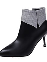 cheap -Women's Boots High Heel Pointed Toe Rubber Black