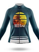 cheap -21Grams Women's Long Sleeve Cycling Jersey Spandex Polyester Dark Green Funny Bike Top Mountain Bike MTB Road Bike Cycling Quick Dry Moisture Wicking Breathable Sports Clothing Apparel / Stretchy