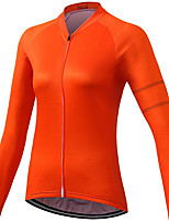 cheap -21Grams Women's Long Sleeve Cycling Jersey Spandex Red Green Rose Red Solid Color Bike Top Mountain Bike MTB Road Bike Cycling Quick Dry Moisture Wicking Sports Clothing Apparel / Stretchy