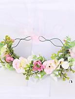 cheap -Mori Girl Garland Simulation Flower Rattan Headband Headband Bridal Wedding Wedding Hair Accessories Seaside Holiday Head Flower
