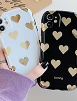 cheap -Phone Case For Apple Back Cover iPhone 12 Pro Max 11 SE 2020 X XR XS Max 8 7 Shockproof Dustproof Word / Phrase Graphic Heart PC