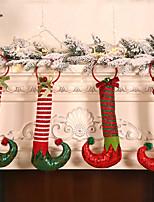 cheap -Christmas Decorations Elf Feet Hoop Hanging Bells Holiday Home Door Elf Boots Door Knocker Ornaments