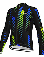 cheap -21Grams Men's Long Sleeve Cycling Jersey Spandex Polyester Black Stripes Funny Bike Top Mountain Bike MTB Road Bike Cycling Quick Dry Moisture Wicking Breathable Sports Clothing Apparel / Athleisure