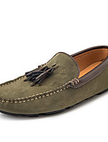 cheap -Men's Loafers & Slip-Ons Comfort Loafers Crib Shoes Drive Shoes Casual Daily Suede Breathable Non-slipping Wear Proof Green Orange Black Fall Spring / Tassel