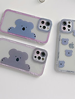 cheap -Phone Case For Apple Back Cover iPhone 12 Pro Max 11 SE 2020 X XR XS Max 8 7 Shockproof Dustproof Cartoon Graphic Animal TPU