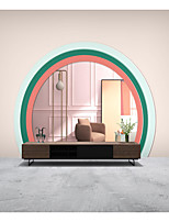 cheap -Mural Wallpaper Wall Sticker Covering Print Peel and Stick Removable Self Adhesive Pink Round Door Art PVC / Vinyl Home Decor