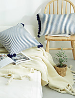 cheap -PillowCase Home Office Stripe Simplicity Hanging Ball Style PillowCase Living Room Bedroom Sofa Cushion Cover Modern Sample Room Cushion Cover