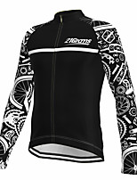 cheap -21Grams Men's Long Sleeve Cycling Jersey Spandex Polyester Black Gear Funny Bike Top Mountain Bike MTB Road Bike Cycling Quick Dry Moisture Wicking Breathable Sports Clothing Apparel / Athleisure