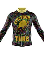 cheap -21Grams Men's Long Sleeve Cycling Jersey Spandex Polyester Black Cartoon 3D Funny Bike Top Mountain Bike MTB Road Bike Cycling Quick Dry Moisture Wicking Breathable Sports Clothing Apparel / Stretchy