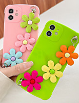 cheap -Phone Case For Apple Back Cover iPhone 12 Pro Max 11 SE 2020 X XR XS Max 8 7 Shockproof Dustproof Solid Colored Flower TPU