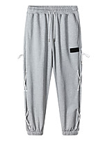 cheap -Men's Sweatpants Running Pants Hiking Pants Trousers Drawstring Winter Outdoor Windproof Soft Stretchy Comfortable Cotton Elastic Waist Bottoms Grey White Black Winter Sports S M L XL XXL