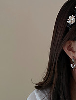 cheap -4 Pcs/set Pearl-studded Acrylic Hair Bands Retro Fairy Temperament Palace Style Hair Accessories Fashion Personality Ins Cute Headwear
