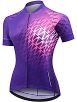 cheap -21Grams Women's Short Sleeve Cycling Jersey Summer Spandex Polyester Purple Lightning Funny Bike Top Mountain Bike MTB Road Bike Cycling Quick Dry Moisture Wicking Breathable Sports Clothing Apparel