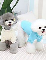 cheap -Dog Cat Sweatshirt Solid Colored Animal Cute Sweet Dailywear Casual / Daily Winter Dog Clothes Puppy Clothes Dog Outfits Warm Blue White Costume for Girl and Boy Dog Cotton S M L XL XXL