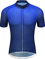 cheap -21Grams Men's Short Sleeve Cycling Jersey Summer Spandex Blue Dot Bike Top Mountain Bike MTB Road Bike Cycling Quick Dry Moisture Wicking Sports Clothing Apparel / Stretchy / Athleisure