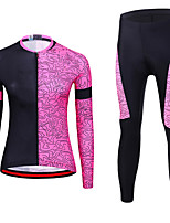 cheap -21Grams Women's Short Sleeve Cycling Jacket with Pants Spandex Polyester Rose Red Funny Bike Clothing Suit 3D Pad Quick Dry Moisture Wicking Breathable Back Pocket Sports Graphic Mountain Bike MTB