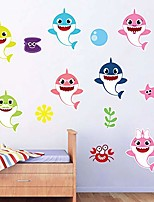 cheap -baby shark, baby boy nursery wall decal vinyl sticker for home décor. by