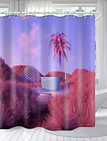 cheap -Blooming Flower Series Digital Printing Shower Curtain Shower Curtains  Hooks Modern Polyester New Design