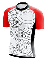 cheap -21Grams Men's Short Sleeve Cycling Jersey Summer Spandex Polyester White Gear Funny Bike Top Mountain Bike MTB Road Bike Cycling Quick Dry Moisture Wicking Breathable Sports Clothing Apparel