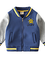 cheap -Kids Boys' Coat Long Sleeve Blue Star Pocket Cotton Street Vacation Active Sport 2-6 Years / Fall / Winter