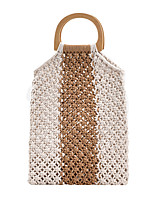 cheap -Unisex Bags Straw Top Handle Bag Daily 2021 Khaki Black Brown
