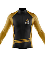 cheap -21Grams Men's Long Sleeve Cycling Jersey Spandex Polyester Black Color Block Funny Bike Top Mountain Bike MTB Road Bike Cycling Quick Dry Moisture Wicking Breathable Sports Clothing Apparel