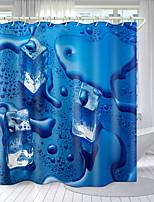 cheap -Refreshing Series Digital Printing Shower Curtain Shower Curtains  Hooks Modern Polyester New Design