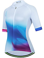 cheap -21Grams Women's Short Sleeve Cycling Jersey Summer Spandex White Gradient Bike Top Mountain Bike MTB Road Bike Cycling Quick Dry Moisture Wicking Sports Clothing Apparel / Stretchy / Athleisure