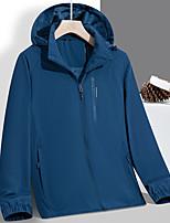cheap -Men's Hoodie Jacket Hiking Windbreaker Hiking Fleece Jacket Nylon Elastane Polar Fleece Winter Outdoor Solid Color Thermal Warm Waterproof Windproof Fleece Lining Outerwear Winter Jacket Trench Coat