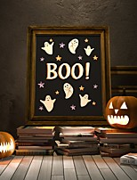 cheap -Halloween Wall Art Canvas Prints Painting Artwork Picture Ghost Home Decoration Dcor Rolled Canvas No Frame Unframed Unstretched