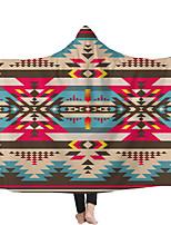 cheap -Hooded Blanket Hat Magic Cloak Blanket Children's Blanket Geometric Style 1