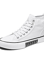 cheap -Men's Sneakers Lace up British Daily Denim Shock Absorbing Wear Proof Green White Black Fall Spring