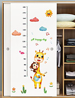 cheap -Animals Height Stickers Wall Stickers Living Room Kids Room Kindergarten Removable Pre-pasted PVC Home Decoration Wall Decal 1pc
