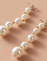 cheap -Women's Earrings Chandelier Fashion Stylish Korean Cute Sweet Pearl Earrings Jewelry White For Gift Date Promise Festival 1 Pair