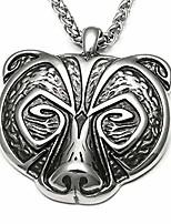 cheap -bear head berserker pendant totem animal jewelry amulet talisman ethich vintage men women stainless steel necklace