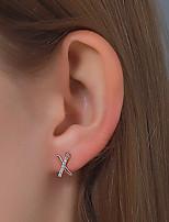 cheap -Women's Earrings Geometrical Alphabet Shape Stylish Simple Earrings Jewelry Rose Gold / Silver For Street 1 Pair