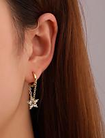 cheap -Women's Cubic Zirconia Earrings Classic Star Stylish Earrings Jewelry Gold For Street