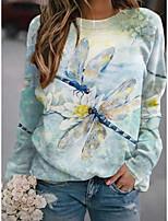 cheap -Women's Sweatshirt Pullover Graphic Prints Animal Print Sports Holiday 3D Print Active Streetwear Hoodies Sweatshirts  Blue