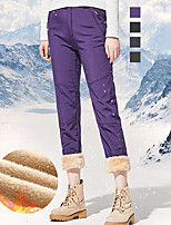cheap -Women's Fleece Lined Pants Hiking Pants Trousers Softshell Pants Winter Outdoor Thermal Warm Waterproof Windproof Warm Spandex Pants / Trousers Bottoms Purple Army Green Grey Black Camping / Hiking