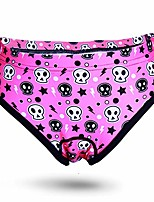cheap -women's 3d padded cycling bike bicycle briefs underwear shorts quick dry bicycle undewear short (pink skull, xl)