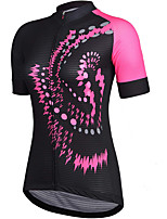 cheap -21Grams Women's Short Sleeve Cycling Jersey Summer Spandex Polyester Purple Blue Green Funny Bike Top Mountain Bike MTB Road Bike Cycling Quick Dry Moisture Wicking Breathable Sports Clothing Apparel