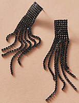 cheap -Women's Earrings Tassel Fringe Simple Gothic Romantic Fashion Sweet Earrings Jewelry Black For New Baby Engagement Prom Date Promise 1 Pair