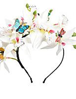 cheap -1 Piece Spring And Summer New Seaside Holiday Wreath Children's Simulation Flower Headband Handmade Flower Headband Baby Headdress