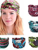 cheap -5PCS Cotton Women Headpiece Stretch Hot Selling Turban Hair Accessories 1PC Headwear Yoga Run Bandage Hair Bands Headbands Wide Headwrap