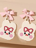 cheap -Women's Drop Earrings Earrings Classic Birthday Stylish Cartoon Romantic Hip Hop Sweet Earrings Jewelry Blushing Pink For Gift Formal Date Beach Festival 1 Pair