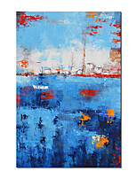 cheap -Oil Painting Handmade Hand Painted Wall Art Blue Retro Abstract  Modern Home Decoration Decor Rolled Canvas No Frame Unstretched